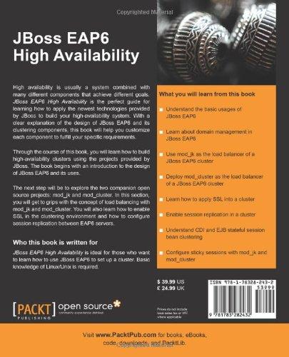 JBoss EAP6 High Availability: Weinan Li: 9781783282432