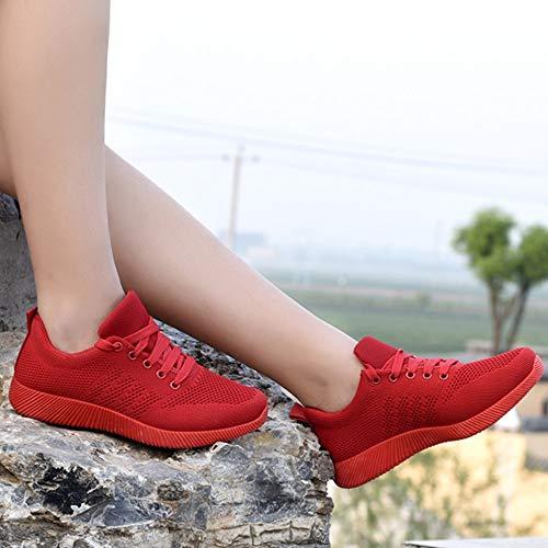 Donna Caramella Autunno Inverno Corsa Rosso Color E Intrecciate Studentesche Volano Sneakers Scarpe Da Scarpa Ashop UnxPBB