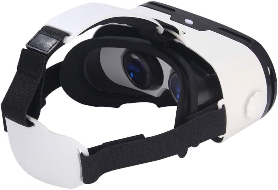 NONE Gafas 3D VR Gafas de Realidad Virtual para Juegos de Películas en 3D Jugar Juegos Educativos Y Ver Videos de 360 ??Grados Lente Anti-Azul (Blanco)