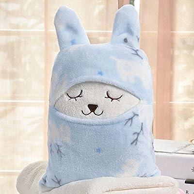Manta polar super suave multiusos con diseño de animales de dibujos animados y orejas, para bebé, enfermería, cachorro, cómodo, Playmat, toalla de baño, ...