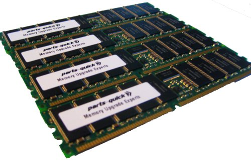 4GB 4 X 1GB PC2100 Registered 266MHz 184 pin DDR SDRAM ECC DIMM Memory RAM for Dell PowerEdge 3250 4600 7250 Server(PARTS-QUICK BRAND) - Dimm 184 Pin Ddr Registered