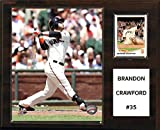 "C&I Collectables MLB San Francisco Giants Brandon Crawford Player Plaque, 12""x15"""
