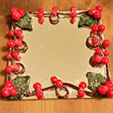Holly Berry Square Mirror