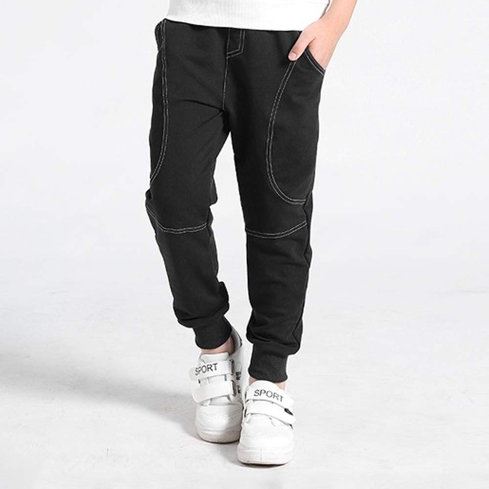 Boys Simple Fashion Sports Casual Drawstring Pants