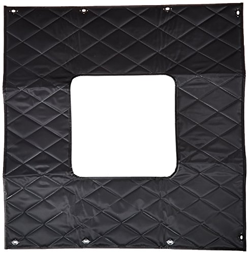 Photo Belmor WF-64080BQ-1 Black Winterfront Truck Grille Cover for 1984-2018 Kenworth W900L
