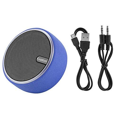 Dilwe Altavoz portátil, Mini Ajedrez inalámbrico Bluetooth Altavoz de Graves con 2 Cables para Llamadas de teléfono, Auto,...