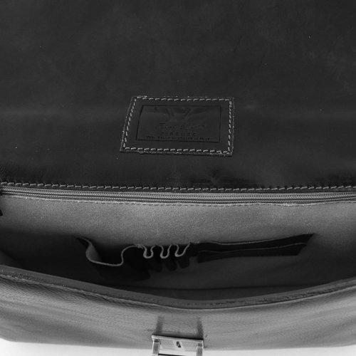 Tuscany Leather , Herren Schultertasche Schwarz schwarz