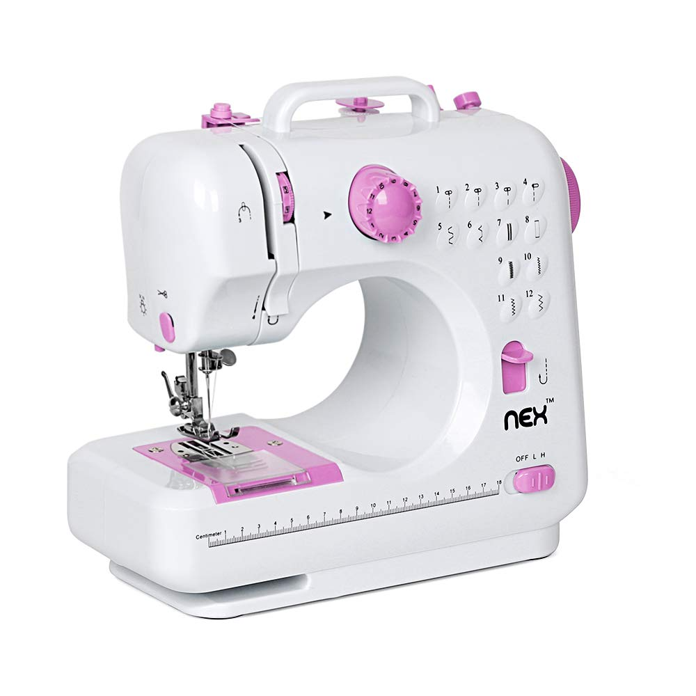 NEX Sewing Machine Children Present Portable Crafting Mending Machine with 12 Built-in Stitched 4336999743