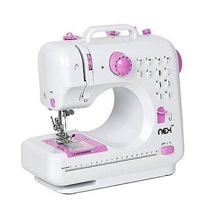 NEX Sewing Machine, Crafting Mending Machine,Children Present Portable with  12 Built-in Stitches