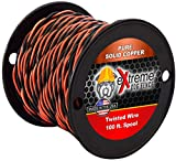 100ft Spool 16AWG Heavy Duty Solid Core Twisted Dog Fence Wire Compatible with all Brands