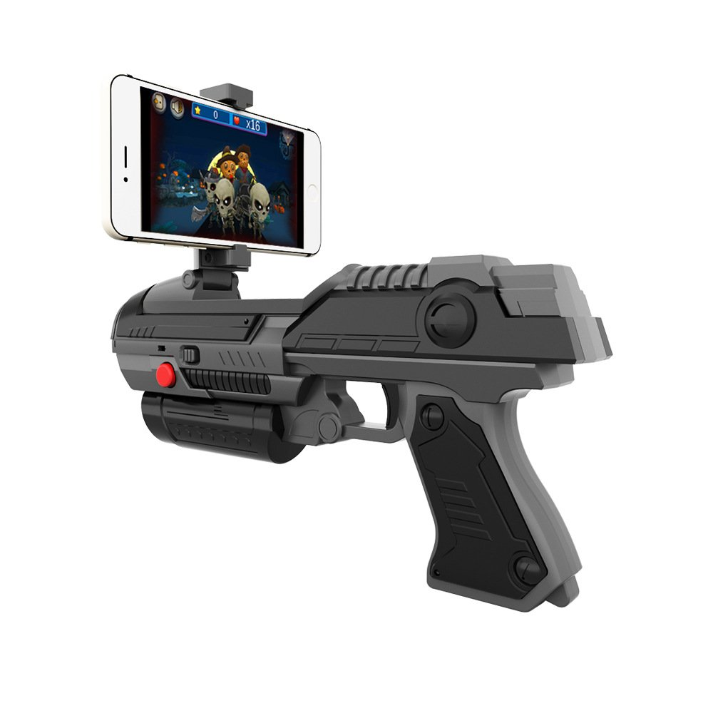 AR Toy Game Gun Smart Bluetooth Connection 360-degree Combination of Virtual and Real Support a Variety of Mobile Games Birthday Gift for Children Two Colors by SH NGP