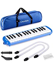 CAHAYA Melodica Double Tubes Mouthpiece Air Piano Keyboard Musical Instrument with Carrying Bag for Adult Kids