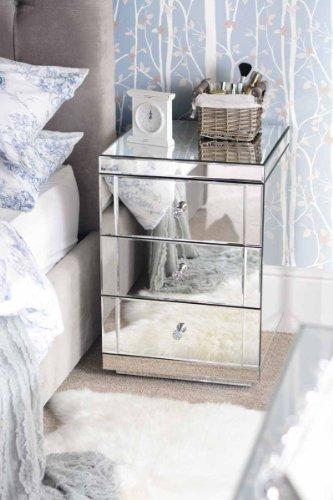 My-Furniture - LUCIA - Comodino a specchio a 3 cassetti - serie ...