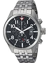 Citizen Mens Quartz Stainless Steel Casual Watch, Color:Silver-Toned (Model: AN3620-51E)