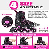 Otw-Cool Adjustable Inline Skates for Kids and