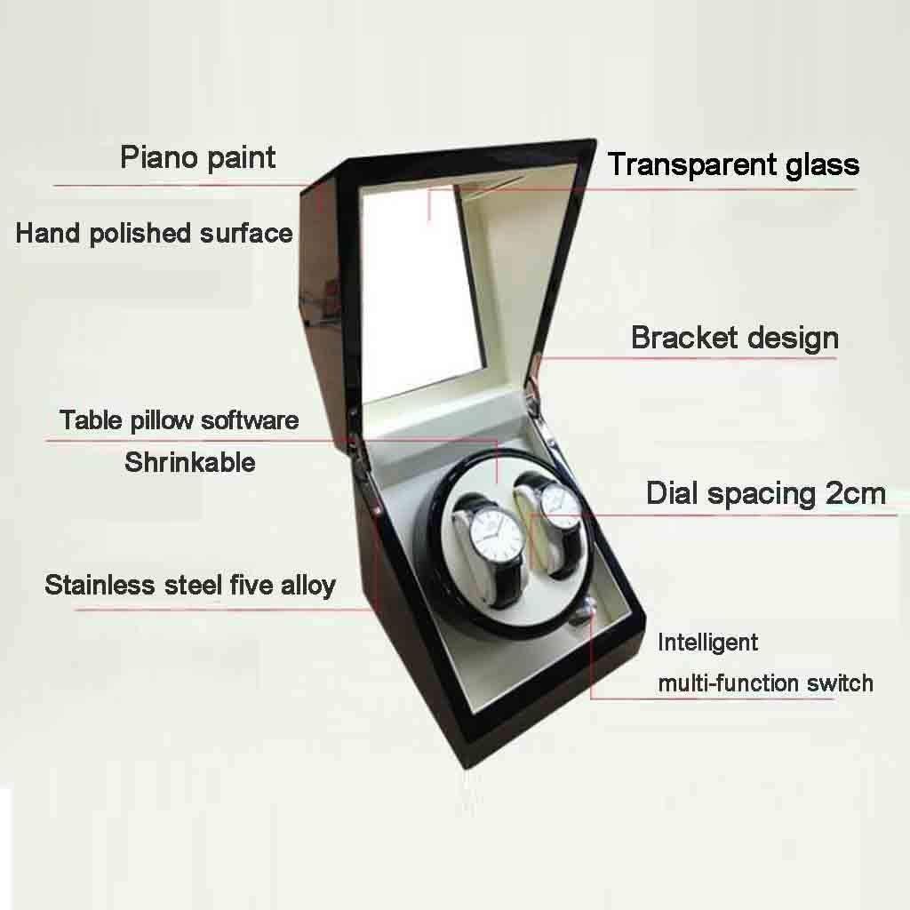 Mini Scatole di immagazzinaggio automatiche for avvolgitori di orologi Orologi rotanti Organizer Scatole for gioielli Display Adatto for uomo e donna Orange