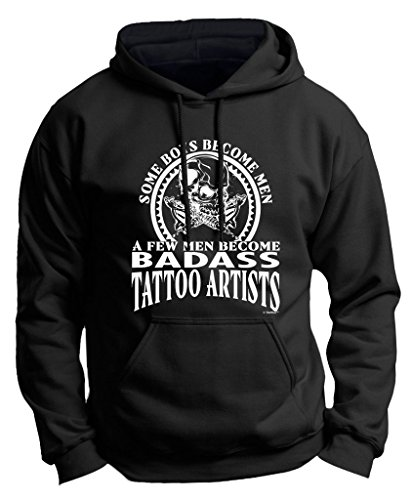 Created Equal, A Few Men Become Tattoo Artists Premium Hoodie Sweatshirt Large Black ()