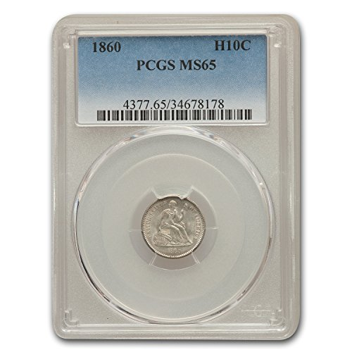 1860 Liberty Seated Half Dime MS-65 PCGS Dime MS-65 PCGS