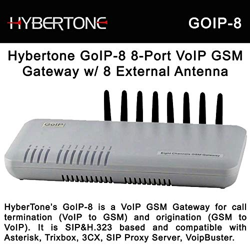 GOIP-8 GSM VoIP Gateway with External Antenna 8 GSM Channels
