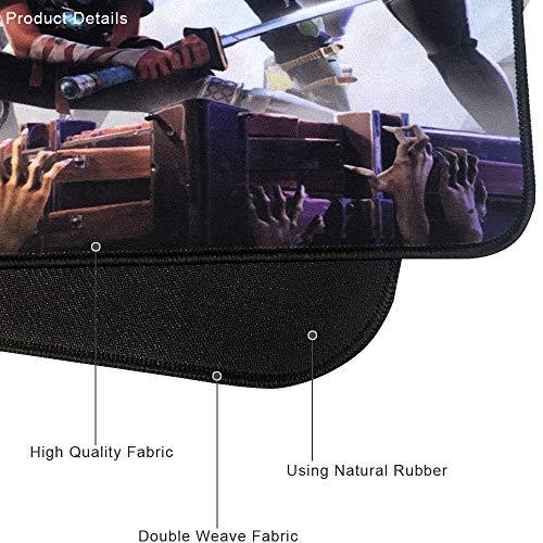 Alfombrilla de ratón Profesional para Videojuegos, diseño Personalizado, Bordes cosidos, Impermeable, Base de Goma Antideslizante, Ideal para portátil, Ordenador y PC 9
