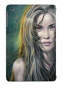 Freshmilk Case Cover Protector Specially Made For Ipad Mini/mini 2 Fantasy Girls Hair Glance Grey Girl