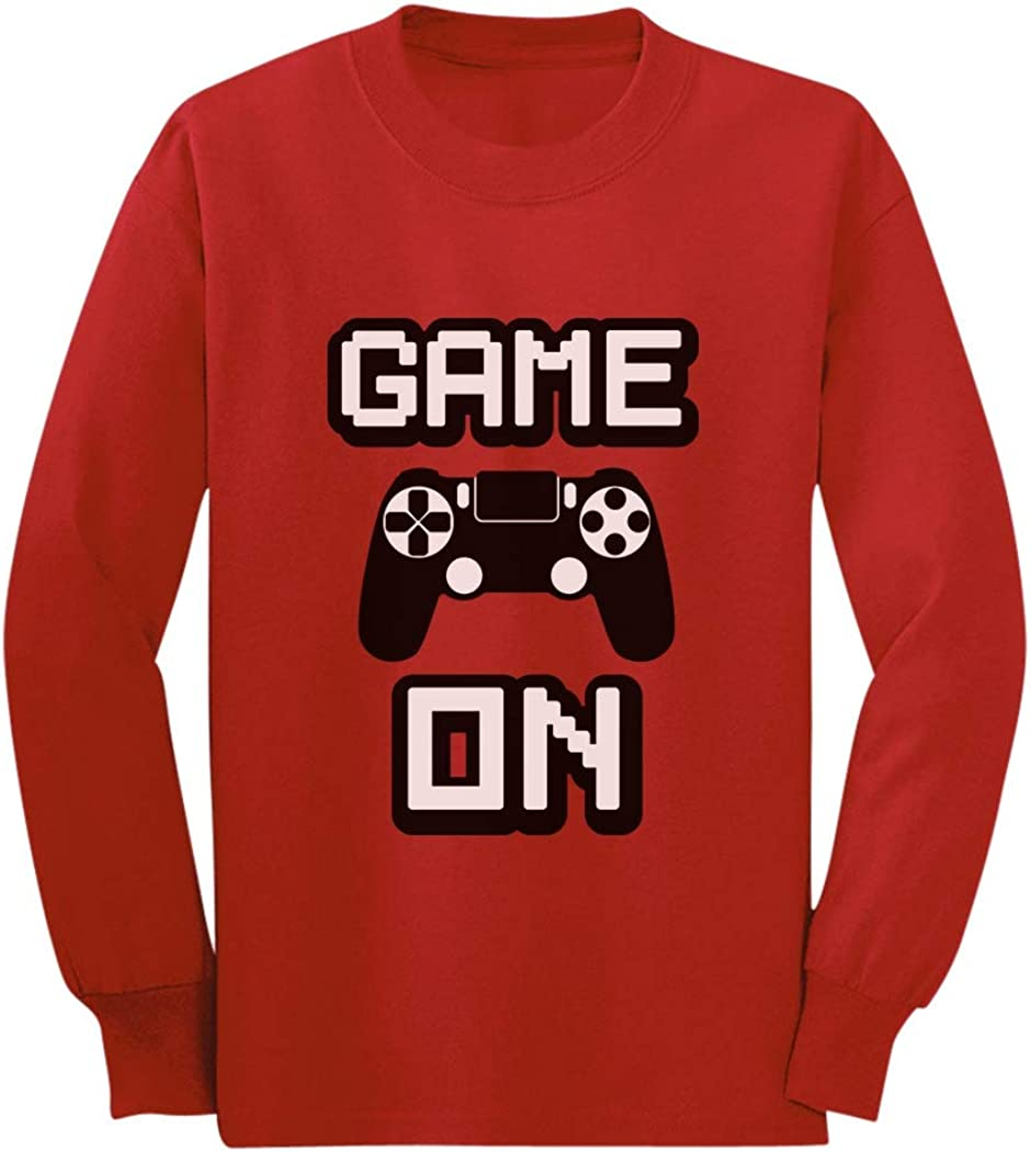 Game On Gaming Gamer Youth Kids Long Sleeve T-Shirt Awesome Gift for Gamers