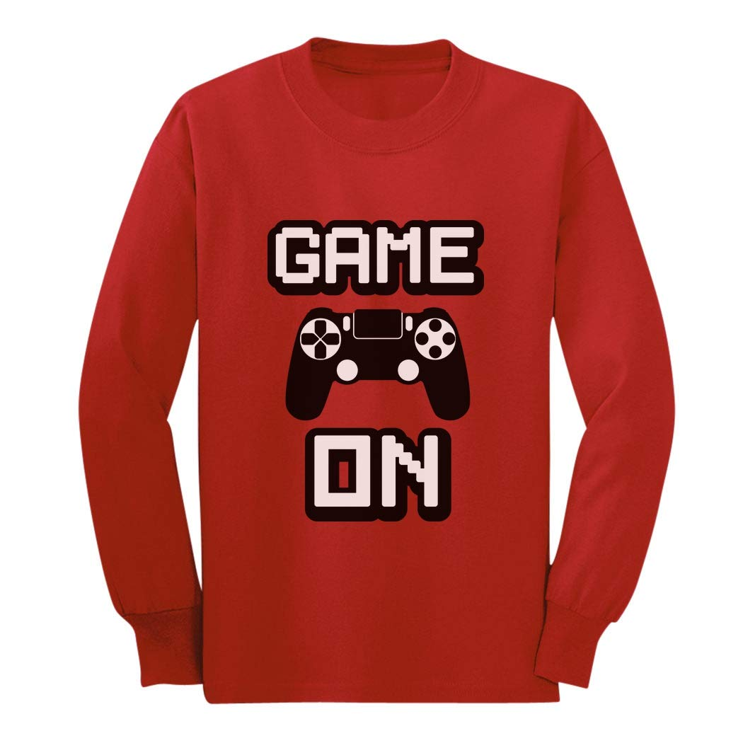 Game On - Awesome Gift for Gamers - Gaming Gamer Youth Kids Long Sleeve T-Shirt GaMPhthgCm