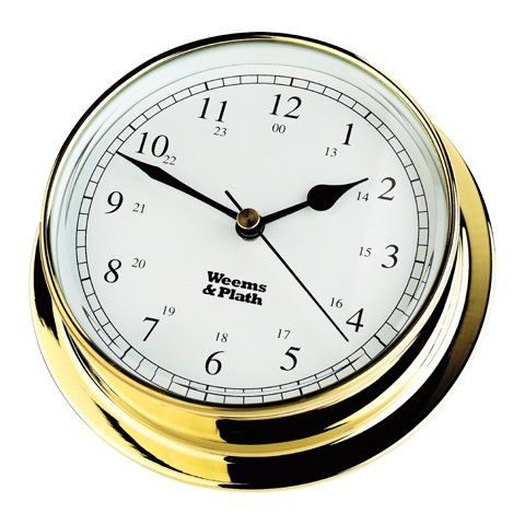 WEEMS & PLATH Endurance Collection 085 Quartz Clock (Brass)