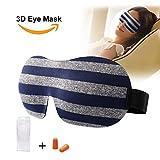 Wellcare 3D Sleep Mask, Eye Mask for Sleeping, Blindfold Smooth Soft Strap, Ultralight Sleep Mask for Women & Men, Comfortable for Naps, Travel, Meditation, Puffy Eyes & Dark Circle(Grey)