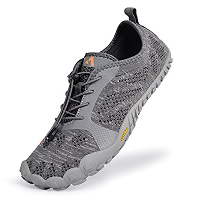 QANSI Mens Hiking Shoes Mesh Breathable Barefoot Water Shoes Gym Athletics Running Walking Outdoor Sports Training Shoes