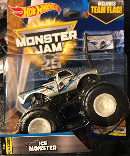 Hot Childrens Clothing (2017 Hot Wheels Monster Jam Flashback Michigan Ice Monster - With Flag)