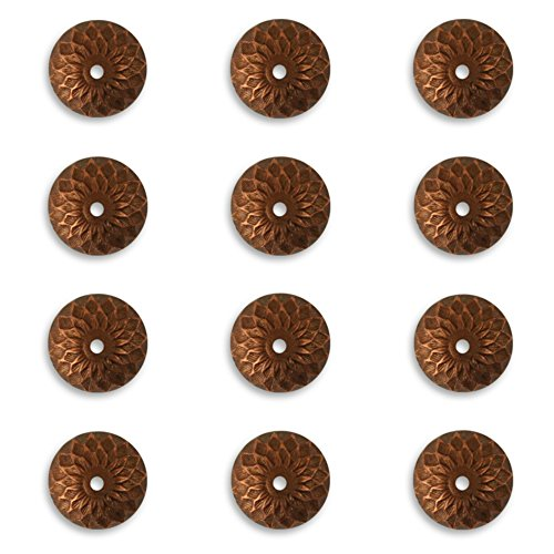 12 Vintaj Artisan COPPER Acorn Bead Caps, CBC0001, 12.5mm for Jewelry Making
