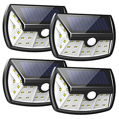 - InnoGear Upgraded Solar Lights Outdoor, Motion Sensor Light with Wide Lighting Area Waterproof Wireless Security Lights Wall Sconce Lamp for Front Door, Back Yard, Driveway, Garage, Pack of 4