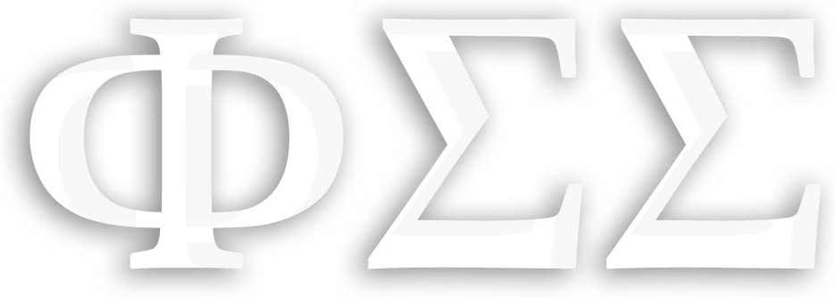 Officially Licensed Sigma Pi 6 x 3 Window Decal White