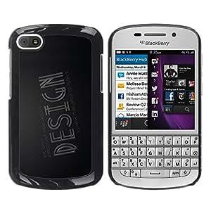 TopCaseStore / la caja del caucho duro de la cubierta de protección de la piel - Design Typography - BlackBerry Q10