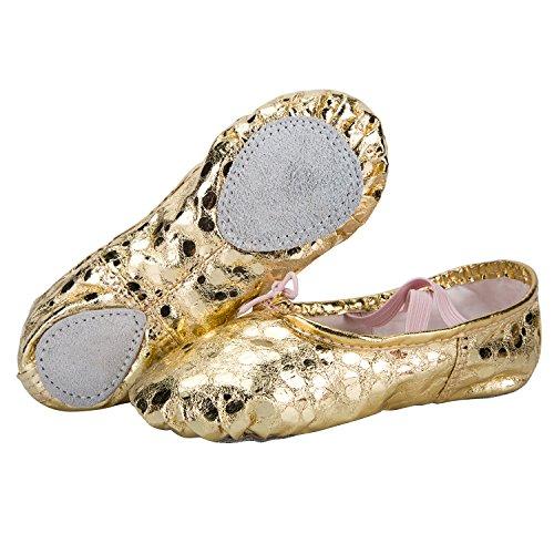 WOBAOS Ballet Slippers Dance Gymnastics Yoga Shoes Flats