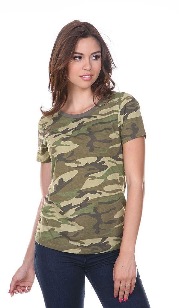 Toddlers Camouflage Crew Neck Short Sleeve Tee Kavio