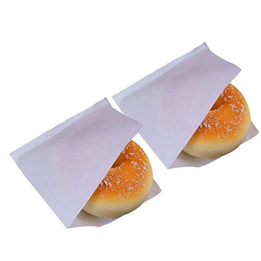 Dosige 100PCS Bolsa de Papel para Envolver,Bolsa de Papel triángulo,Bolsa de Papel Kraft,Caja de Comida desechable para Pan, Hamburguesa, Pastel Size ...