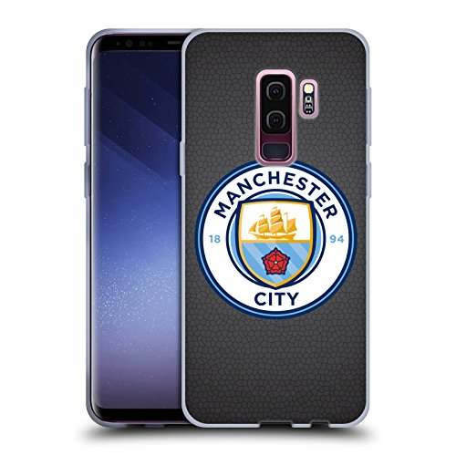 Official Manchester City Man City FC Black Mosaic Full Colour Badge Pixels Soft Gel Case for Samsung Galaxy S9+ / S9 Plus