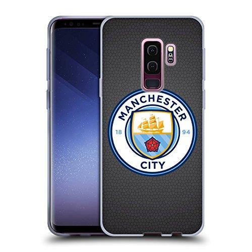 Official Manchester City Man City FC Black Mosaic Full Colour Badge Pixels Soft Gel Case for Samsung Galaxy S9+ / S9 Plus ()