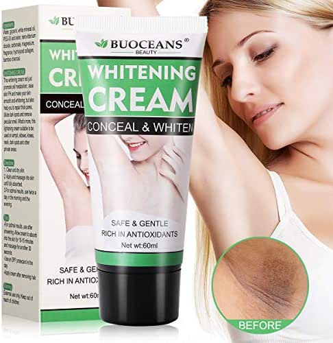 Underarm Whitening Cream, Lightening Cream Effective for Lightening & Brightening Armpit, Knees, Elbows, Sensitive & Private Areas, Whitens, Nourishes, Repairs & Restores Skin (60ml)
