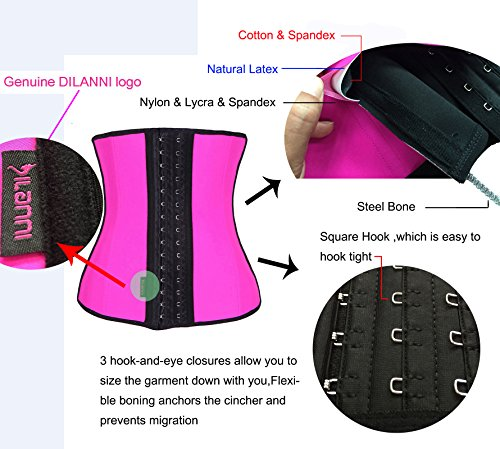 OCCUPY Women's Weight Loss Hourglass Waist Trainer Body Cincher Sport Workout Shaper Black XL Photo #8