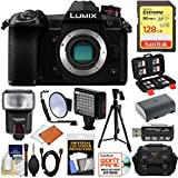 Panasonic Lumix DC-G9 4K Wi-Fi Digital Camera Body with 128GB Card + Battery + Case + Flash + Video Light + Tripod Kit Review
