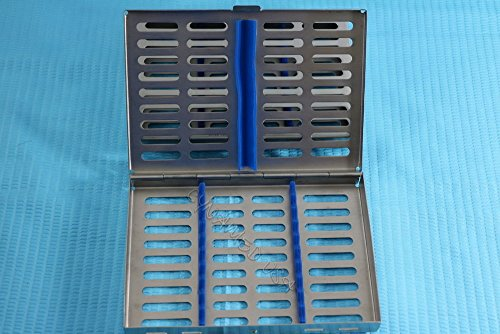 10 DENTAL AUTOCLAVE STERILIZATION CASSETTE RACK BOX TRAY FOR 10 INSTRUMENT BLUE ( CYNAMED ) by CYNAMED (Image #2)