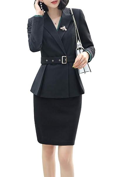 Amazon.com: Conjunto de chaqueta y pantalones para mujer ...