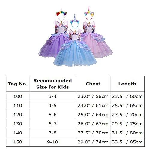 467435968 ... Unicornio Disfraz de Cosplay para Fiesta Carnaval Bautizo Cumpleaños  Comunión Flor Niñas Dama de Honor Boda Velada Vestido 2-12 Años. 🔍. - 62%