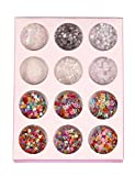 Youcoco 3D Heart Star Irregular Nail Art Glitters Sequins Decoration Eye Makeup Glitters Glitters