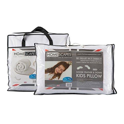 Homescapes - Kids - Natural Duvet & Pillow Set - 4.5 Tog - Goose Feather...