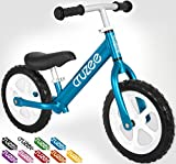 Cruzee UltraLite Balance Bike (4.4 lbs) for Ages 1.5 to 5 Years | Best Sport Push Bicycle for 2, 3 & 4 Year Old Boys & Girls– Toddlers & Kids Skip Tricycles on the Lightest First Bike 1– Blue