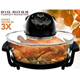 Big Boss 8861 1300 Watt Oval Rapid Wave Oven and Turkey Roaster, Black, 17.5 Quart